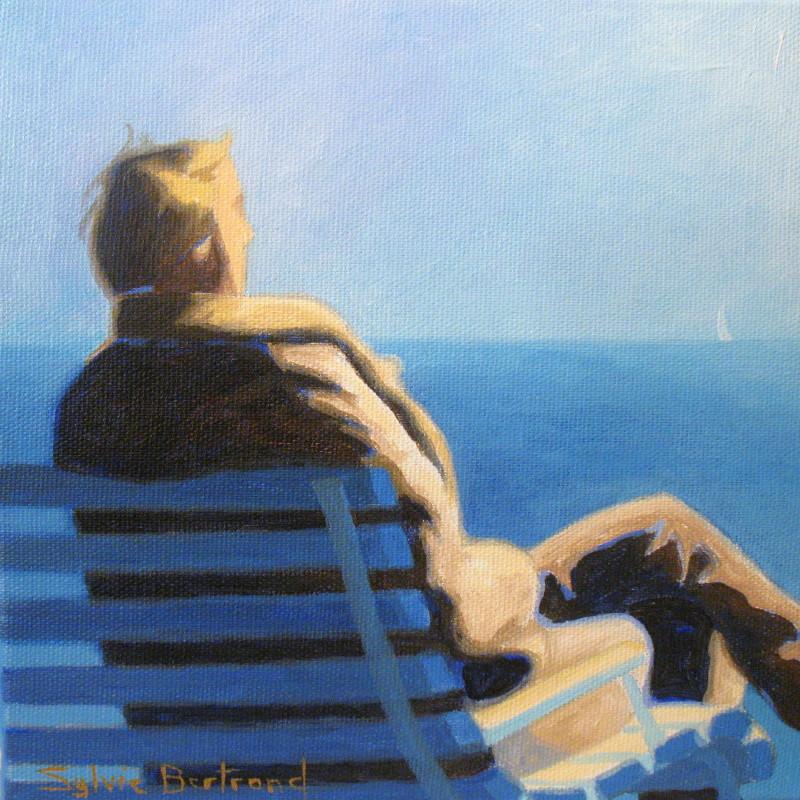 2-silhouette-devant-la-mer-homme-assis-sur-un-banc-sylvie-bertrand-peintre-peinture-promenade-des-anglais-nice-tableau-galerie-art-gallery